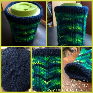 Chevron Pint Jar Cozy